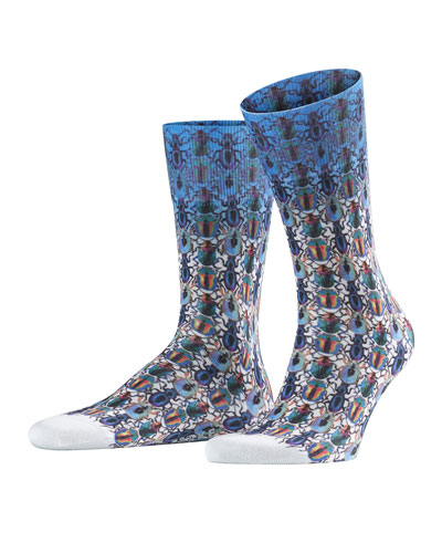 Men's Bug-Patterned Socks