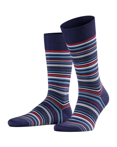 Men's Micro-Block Striped Socks