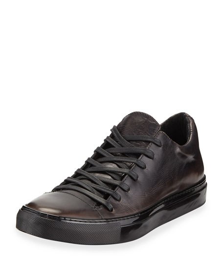 Image 1 of 1: Men's 315 Reed Leather Low-Top Sneakers, Black