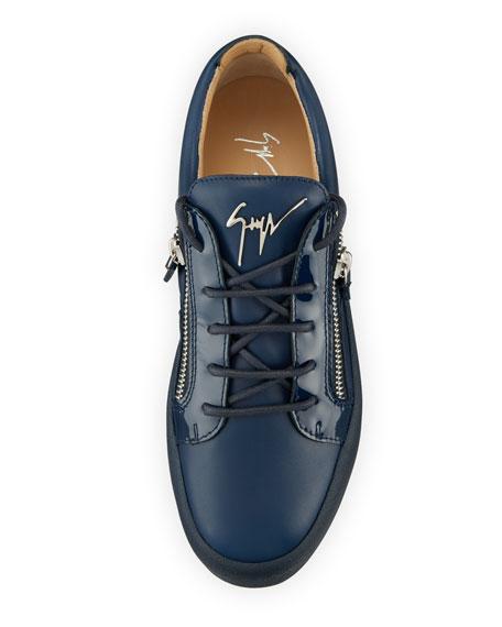 6439f703b808 Giuseppe Zanotti Men s London Double-Zip Leather Low-Top Sneakers
