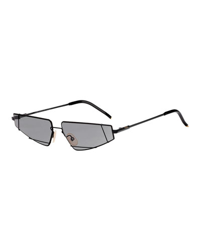 Men's Metal Asymmetric Sunglasses