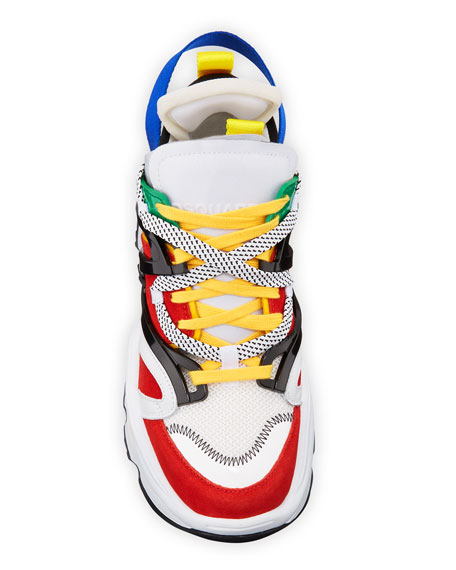 Men's Giant Colorblock Lace-Up Sneakers