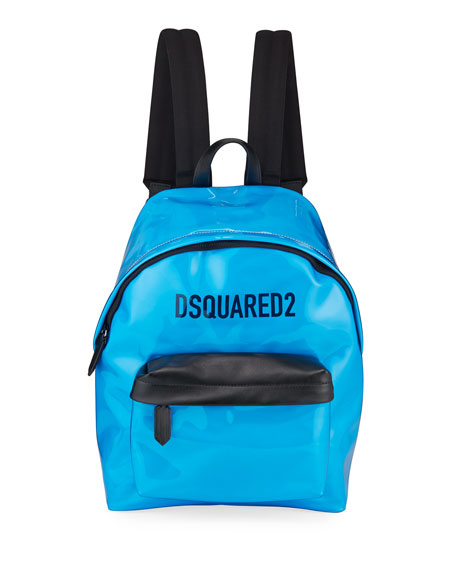 Dsquared2 Men's Logo PVC Zip-Top Backpack