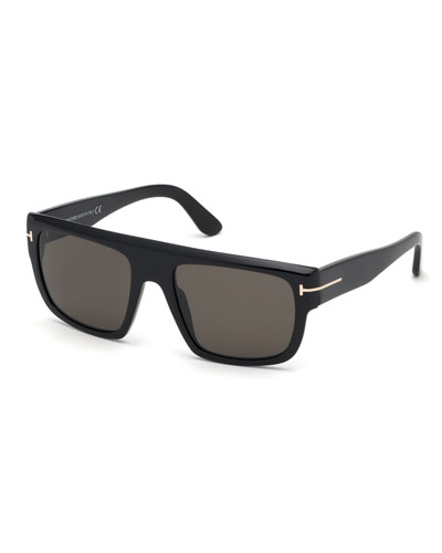 Men's Alessio Flat-Top Acetate Sunglasses
