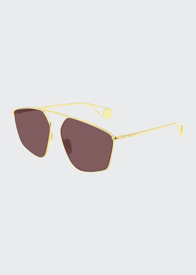 Men's Lightweight Metal-Frame Sunglasses