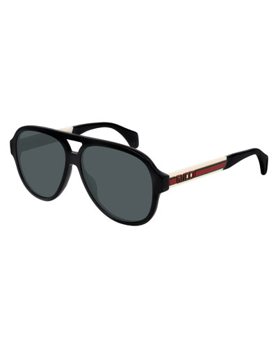 Men's Polarized Nylon Pilot Sunglasses