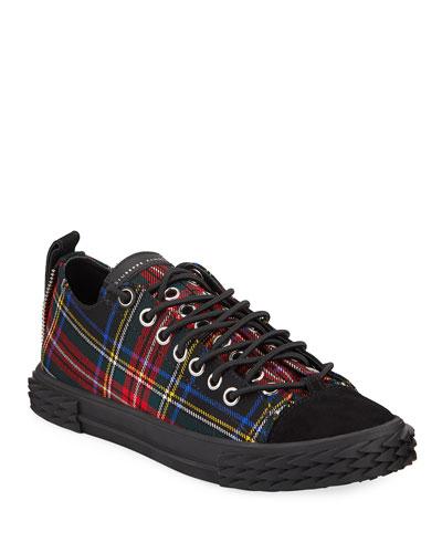 Men's Blabber Low-Top Plaid Sneakers