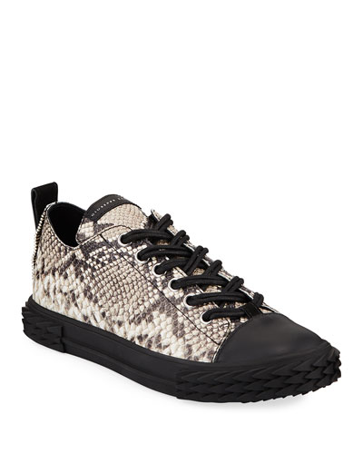 a54f8d641c1ae Men's Blabber Snake-Embossed Low-Top Sneakers Quick Look. Giuseppe Zanotti