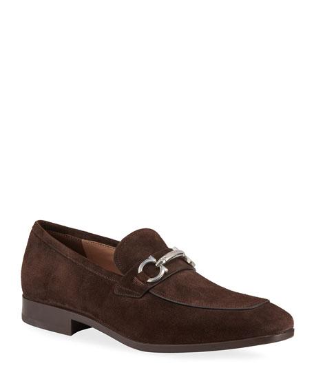 Men's Benford Suede Bit Loafers, Brown