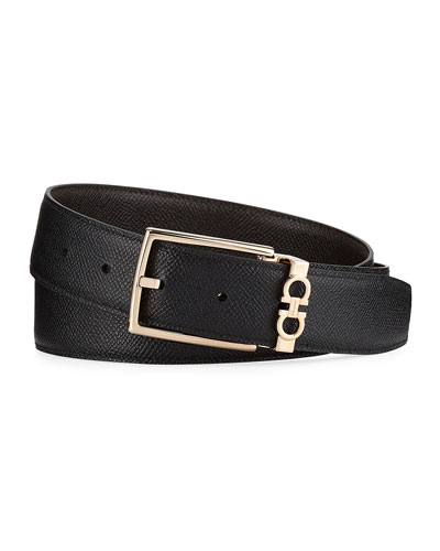 Men's Textured Calf Leather Belt
