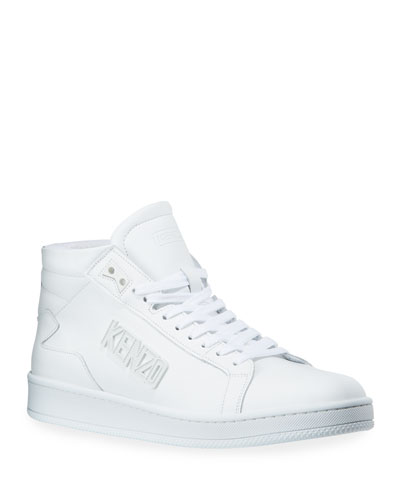 Men's Sport Leather Mid-Top Sneakers