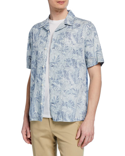 e4495da95df Men s Short-Sleeve Double Face California Print Shirt Quick Look. Vince