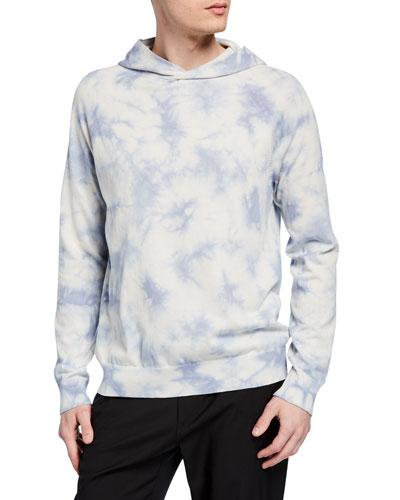 Men's Tie-Dye Cotton Pullover Hoodie
