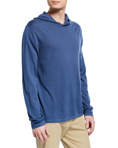Men's Wool-Cashmere Pullover Hoodie