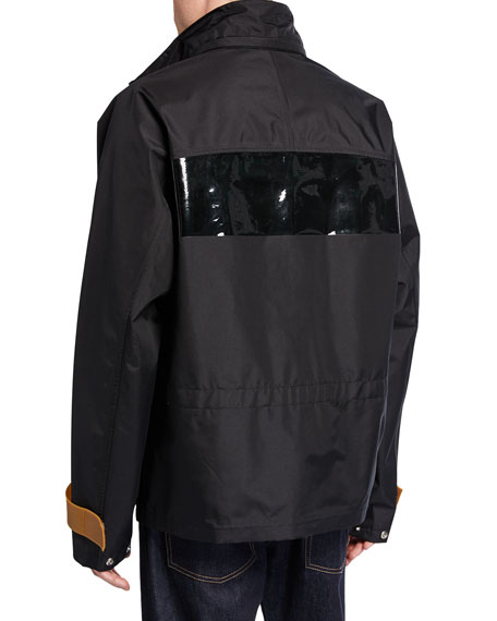 Men's Tech Sport Nylon Zip-Front Jacket