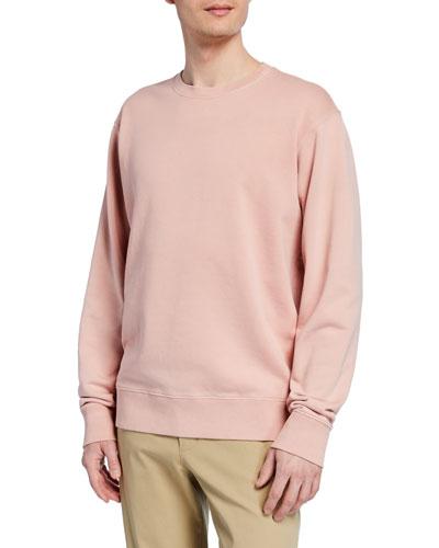 Men's Crewneck Long-Sleeve Cotton Sweatshirt