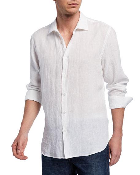 Orlebar Brown T-shirts MEN'S GILES LINEN SPORT SHIRT