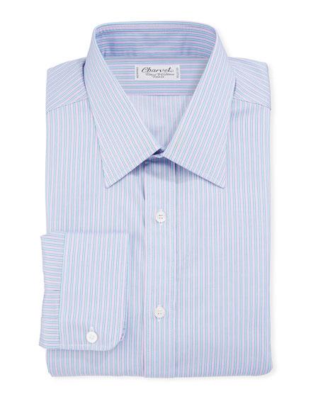 Men's Vertical Stripe Dress Shirt