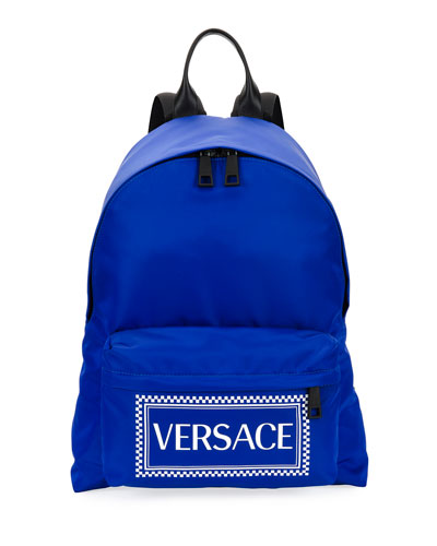 Men's Logo-Stamped Nylon Backpack