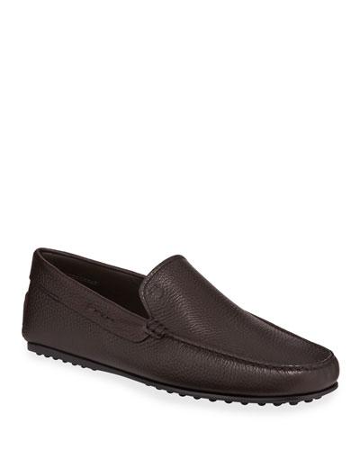 Men's City Leather Moc-Toe Driver Shoes