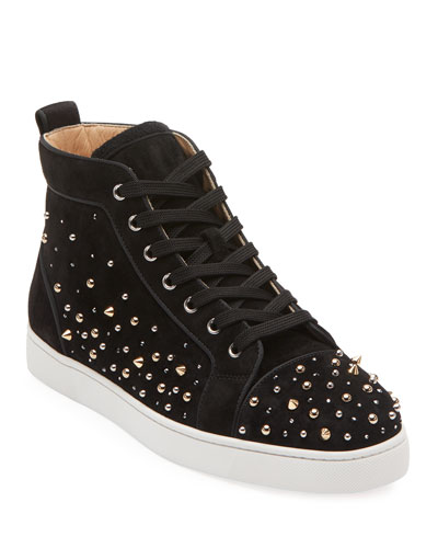 Men's Louis High-Top Spiked Sneakers