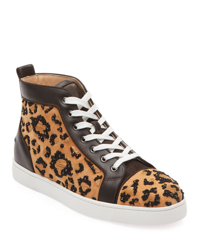c6d0d31be9b1 Men s Beaded Leopard High-Top Sneakers Quick Look. Christian Louboutin