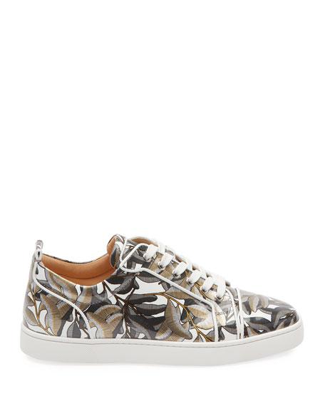 Men's Louis Leaf-Print Low-Top Sneakers