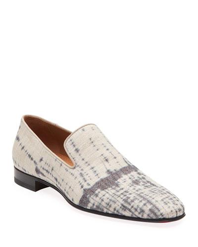 Men's Dandelion Tie-Dye Metallic Formal Slippers