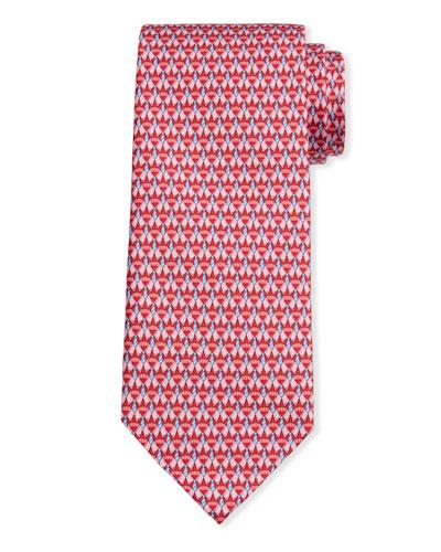 Men's Image 5 Silk Tie w/ Shirt & Tie Motif