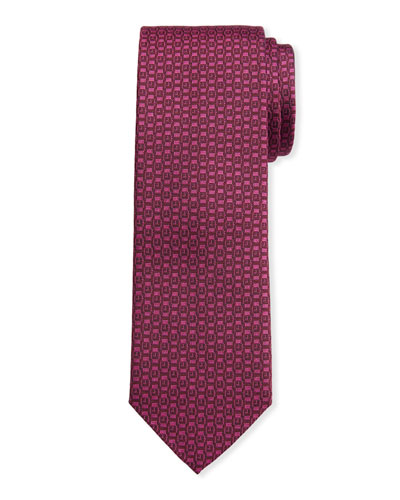 Men's Ischi Silk Watches Tie  Cyclamen