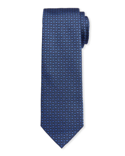 Men's Ischi Silk Watches Tie  Blue