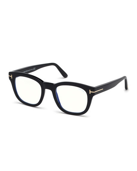 TOM FORD Men's Square Acetate Optical Glasses