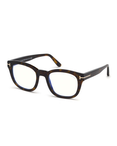 Men's Square Havana Acetate Optical Glasses