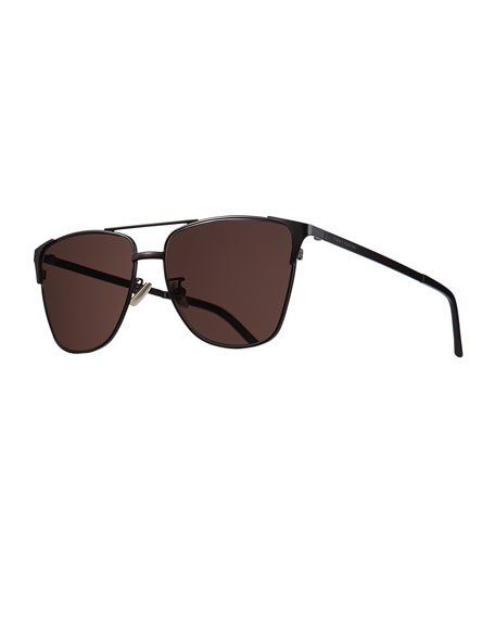 Saint Laurent Men's Metal SL 280 Rectangle Sunglasses