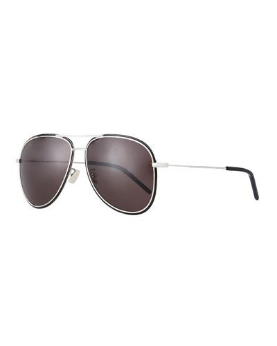 Men's SL 294F Metal Aviator Sunglasses