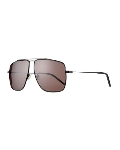 38971d3e5f6f Men's Square Metal Brow-Bar Sunglasses Quick Look. Saint Laurent