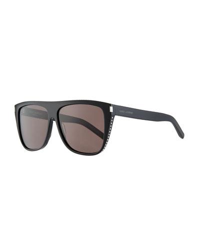 55e52d3f2 Men's SL1 Rectangle Acetate Sunglasses
