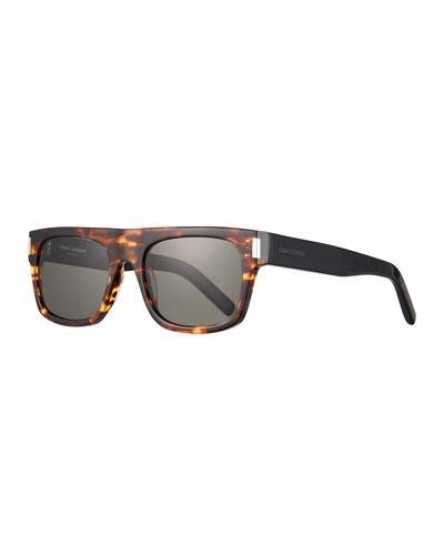 6f18aeef4016 Men's SL 293 Brown-Pattern Rectangle Sunglasses Quick Look. Saint Laurent