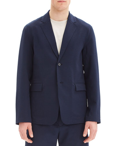 Men's Saratoga Two-Button Crushed Seer Blazer