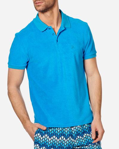 Men's Terry Cloth Polo Shirt