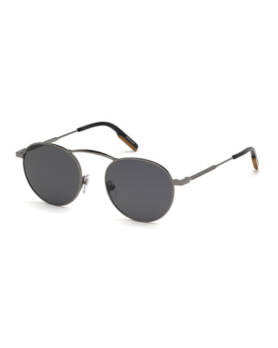 1bab917fbdc1 Men s Round Metal Sunglasses Quick Look. Ermenegildo Zegna
