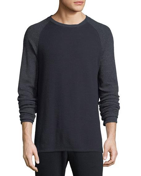 Men's Long-Sleeve Crewneck Cotton-Blend T-Shirt