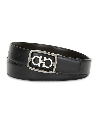 Men's Hickory Gancini Buckle Leather Belt