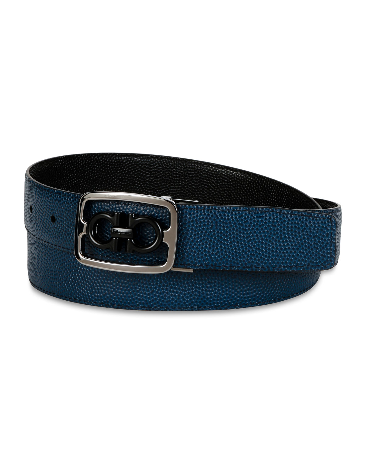 Salvatore Ferragamo Belt Men's Reversible Gancini Buckle Leather Belt