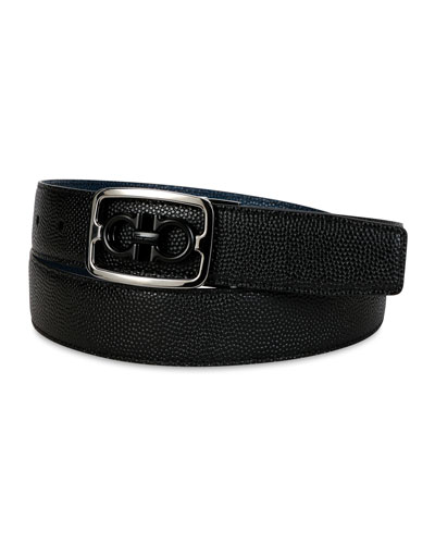 Men's Reversible Gancini Buckle Leather Belt