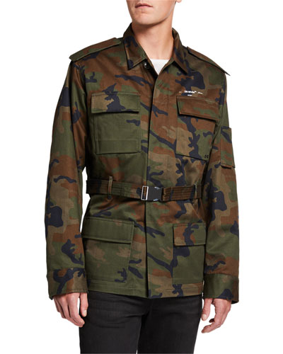 Men's Camo Twill Military Jacket