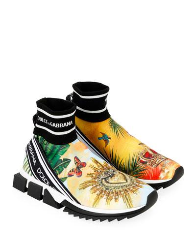 Men's Sorrento High-Top Sock Sneakers