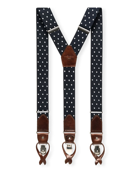 Men's Lincoln Polka-Dot Braces