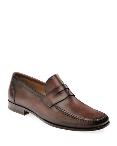 Men's Ramos Leather Penny Loafers  Brown