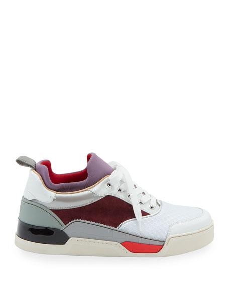 low priced f7e6b 32172 Men's Aurelien Colorblock Mixed-Media Trainer Sneakers